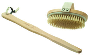 Wooden Body Brush with detachable handle