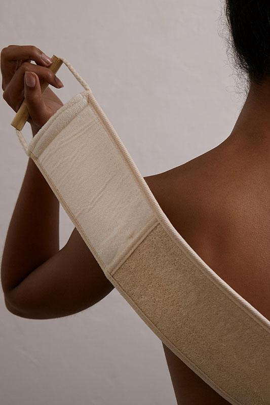 exfoliating back strap